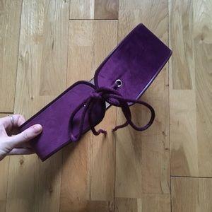 Aritzia Babaton Padraig Purple Waist Belt Size M/L